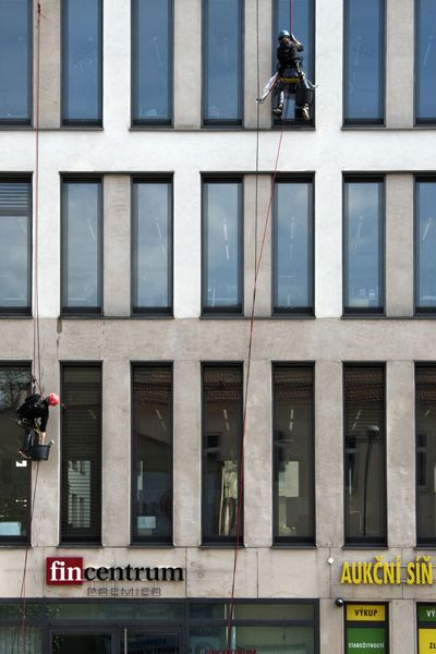 Hofmannservis / Trinity Office Center / window cleaning by climbing / XXIX
