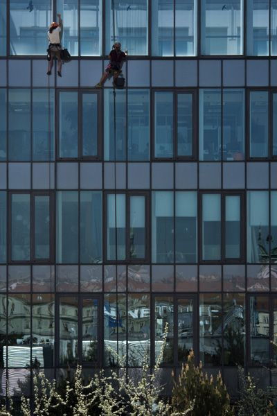 Hofmannservis / Trinity Office Center / window cleaning by climbing / VIII