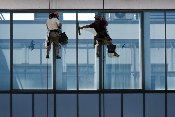 Hofmannservis / Trinity Office Center / window cleaning by climbing / IV
